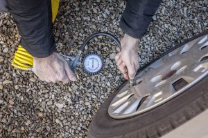 how to fill tires with air at gas station