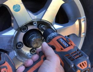 how to get a stripped lug nut off tires