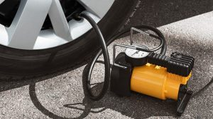 how to inflate tires with air compressor