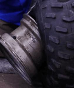 how to put atv tire on rim
