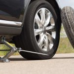 how to rotate tires with two jack stands