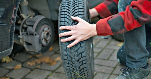 how to rotate your tires with one jack