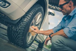how to remove paint from rubber tires