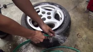 how to get spray paint off tires