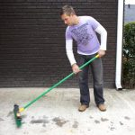 how to clean tire marks off concrete driveway