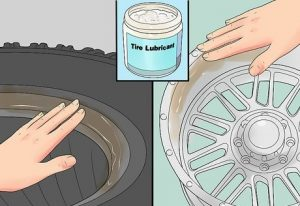 how to change tire on rim without machine