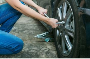 how to cut a tire off the rim